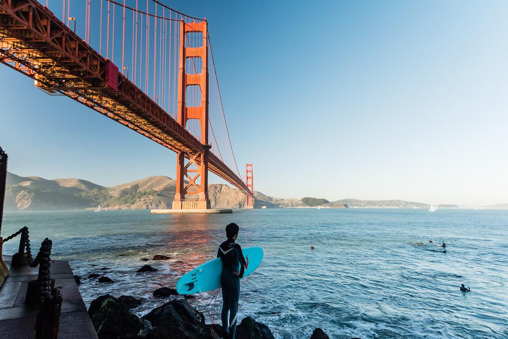 December 3, 2013<br /> Surfing the Golden Gate Bridge, San Francisco, California